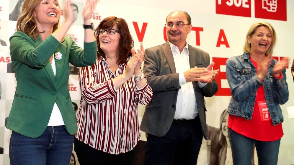 Foto: Javier Lambán, junto a Pilar Alegría (i), candidata a la alcaldía de Zaragoza.