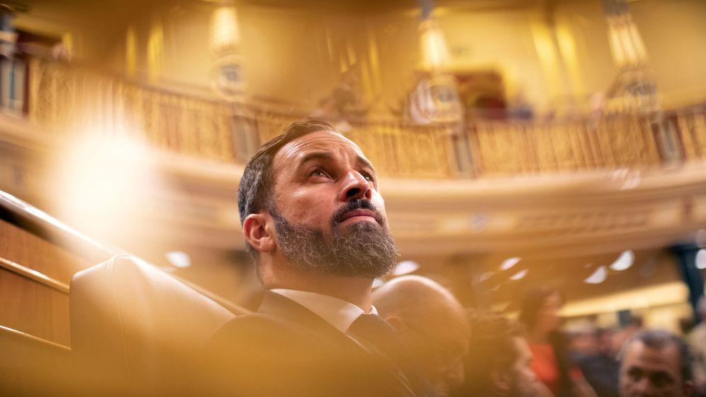 Foto: Santiago Abascal el pasado martes en la constitución de las Cortes. (Reuters)