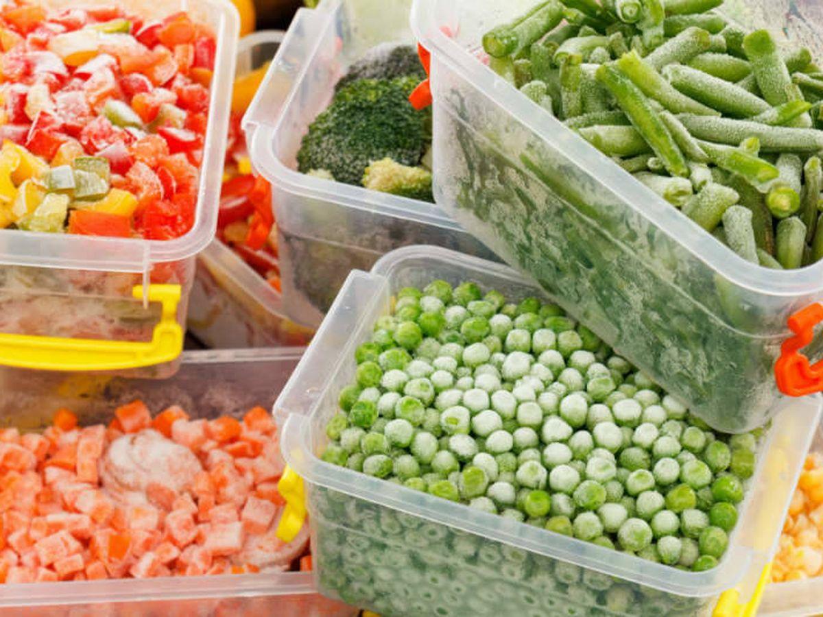 Foto: Verduras congeladas.