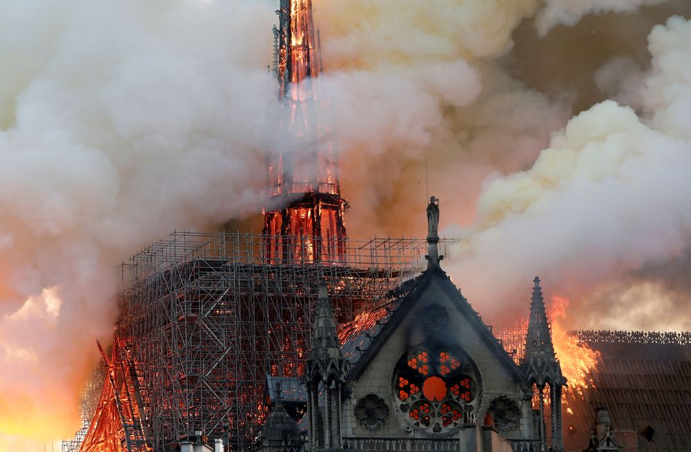 Foto: Incendio de Notre Dame (Reuters)