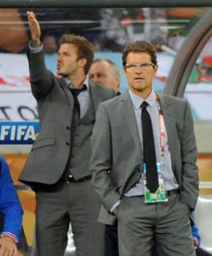 Un aficionado logra colarse en el vestuario inglés y discute con Beckham