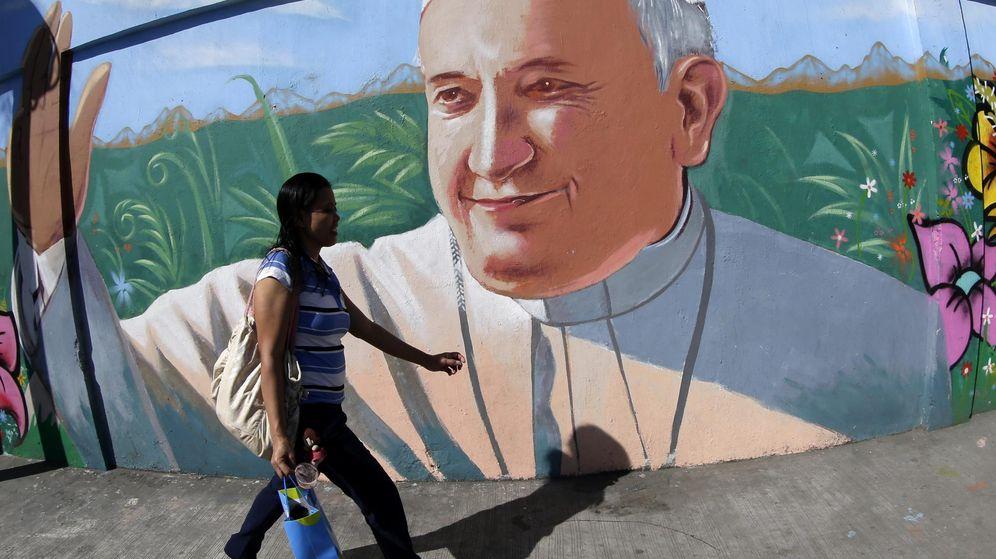 Foto: Mural del Papa Francisco en Filipinas