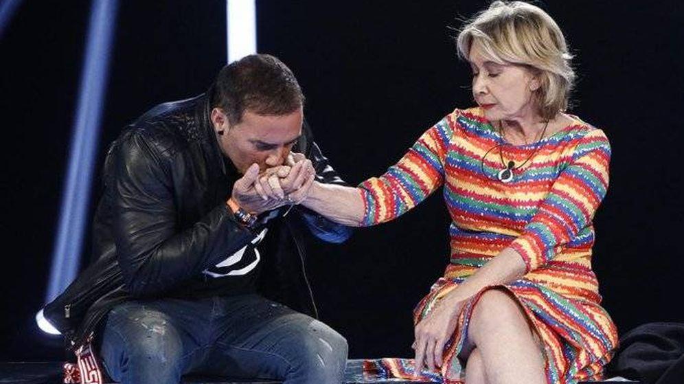 Foto: Mila y Dinio, en 'GH VIP 7'. (Telecinco)