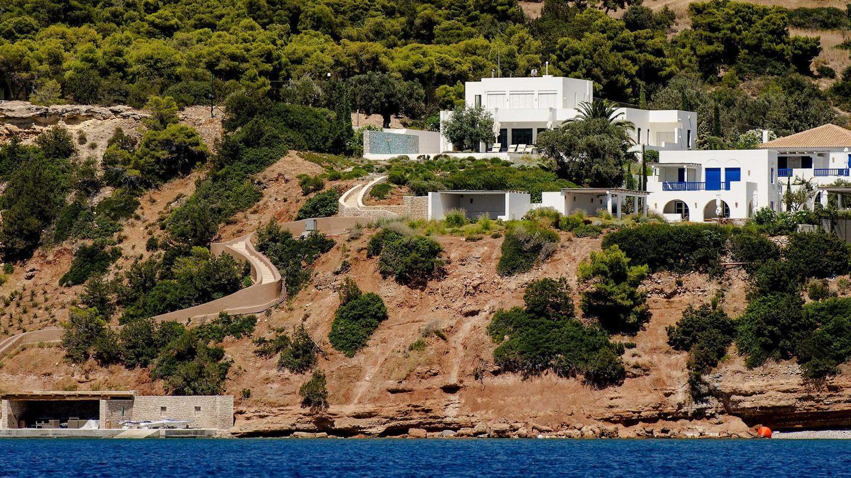 Vista aérea de la mansión griega. (EFE)