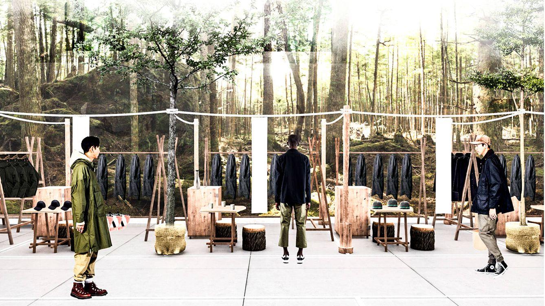 Foto: Puesta en escena de la marca I Go Out. Las prendas funcionales inspiradas en la ropa de trabajo destacan como una de las tendencias más fuertes.