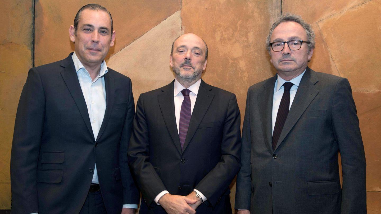 Manuel Polanco (derecha) y Javier Monzón (centro).