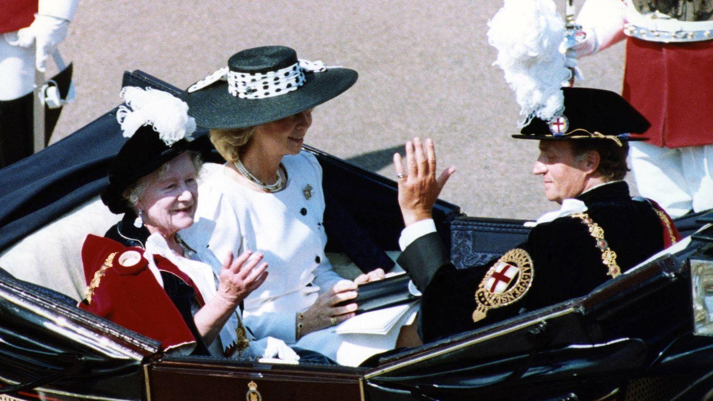 La Reina emérita, en una imagen de archivo con el broche. (Getty)