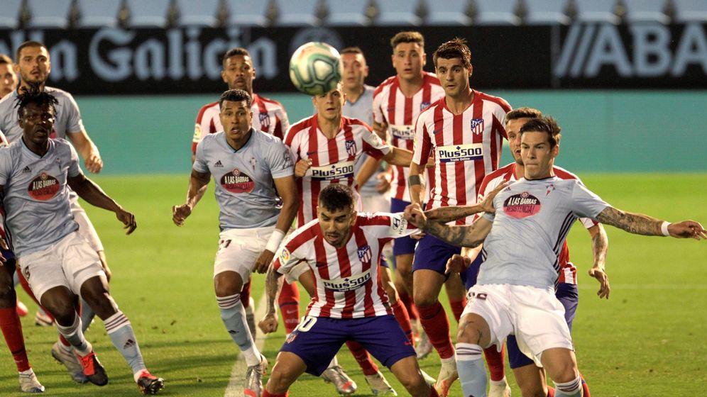 Foto: Lance del Celta-Atlético (Salvador Sas, Efe).