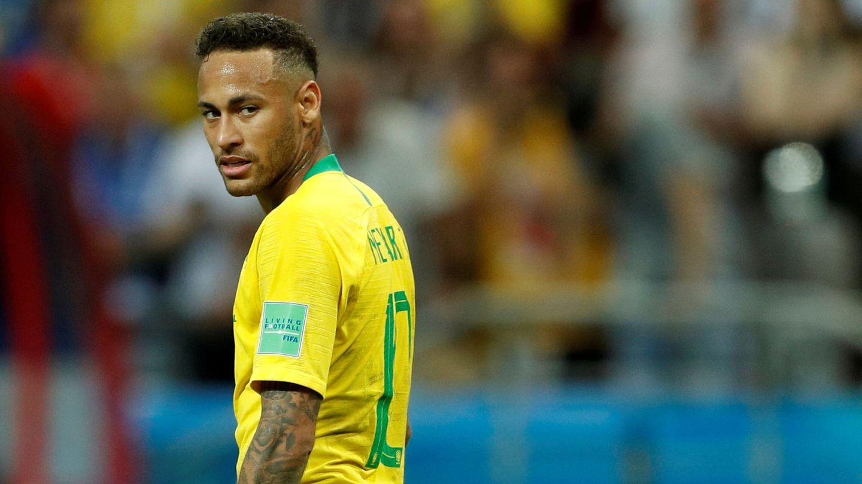 Neymar, serio en el Mundial. (EFE)