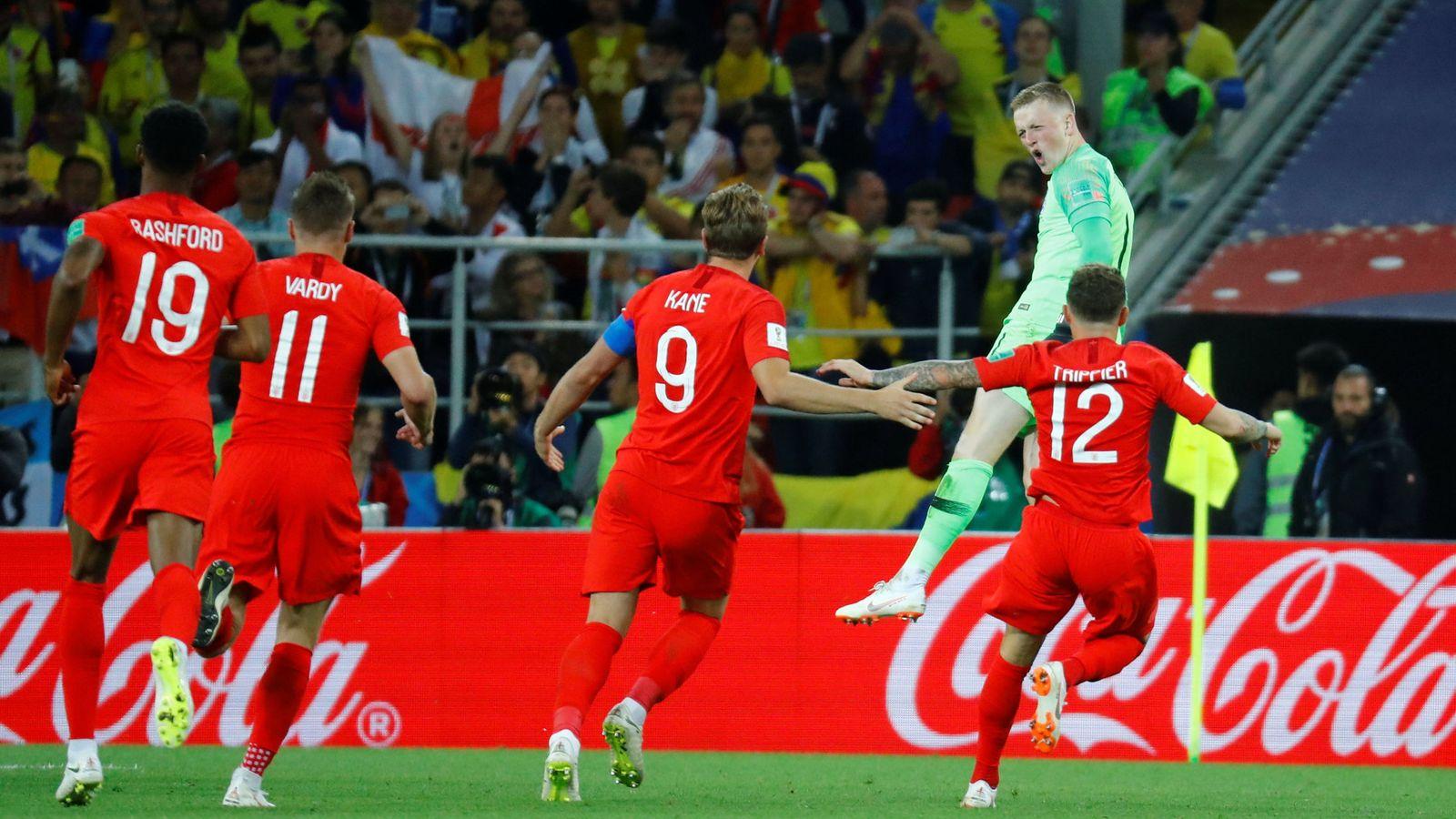 Foto: Inglaterra ganó una tanda de penaltis 22 años después. (Reuters)
