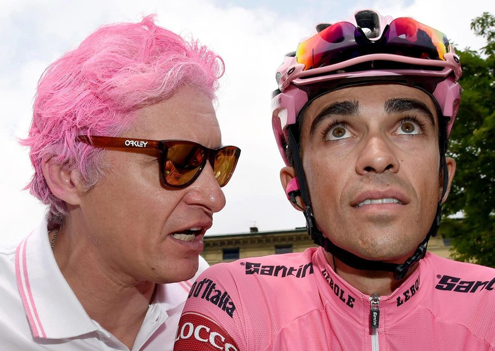Foto: Alberto Contador junto a Oleg Tinkov, dueño del Tinkov Saxo. (Efe).