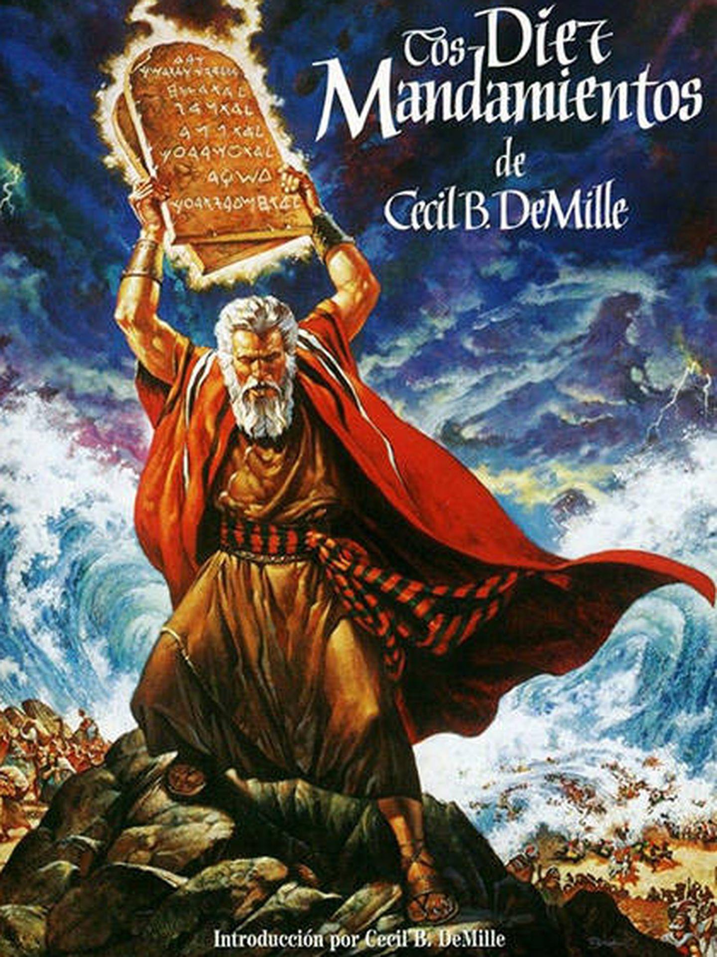 Cartel publicitario de 'Los diez mandamientos'.