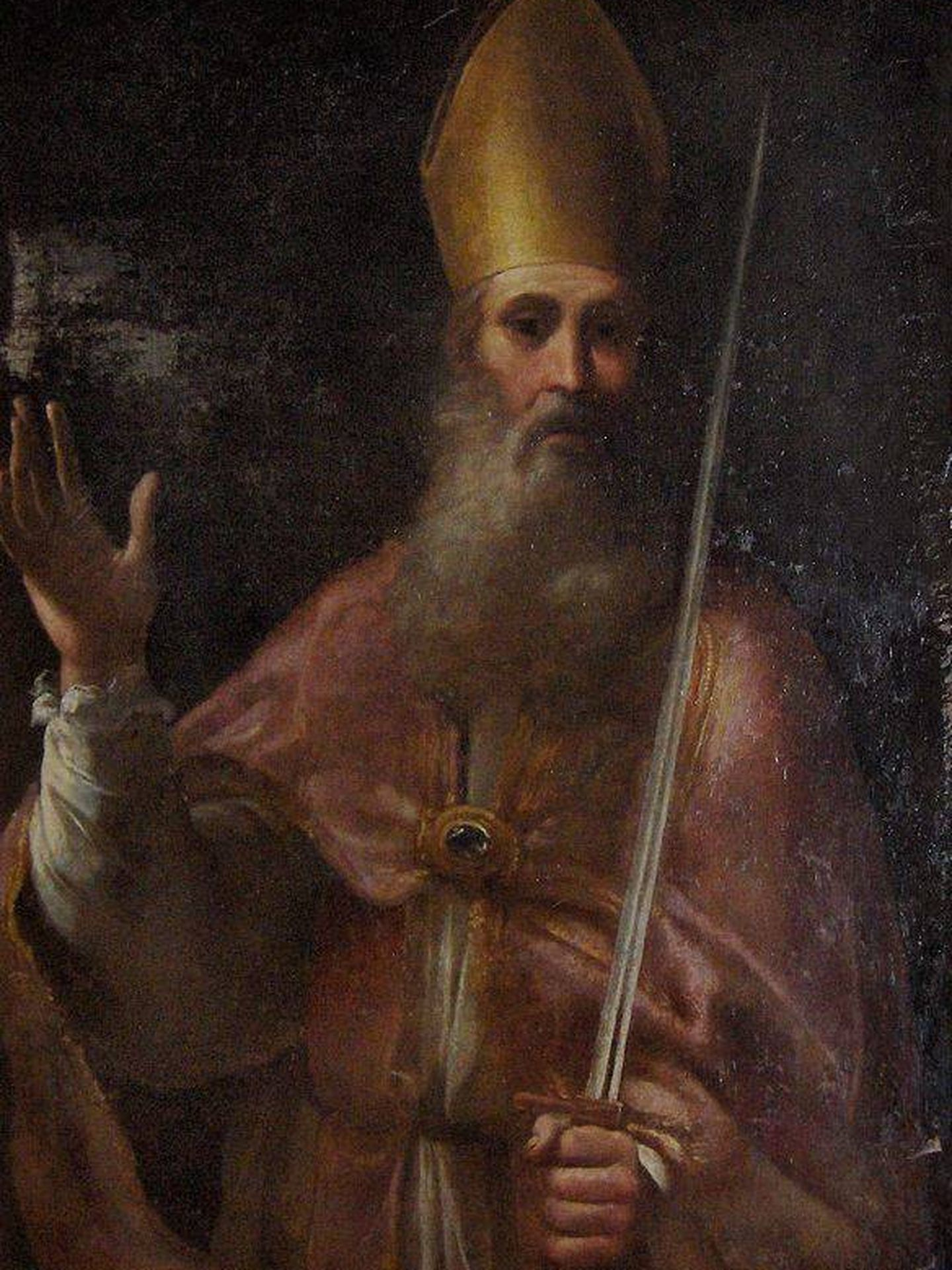 Pintura de 'El Santo Rómulo', en la catedral de San Siro, en Italia. (C.C.)