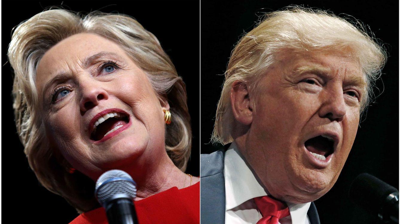 Foto: La candidata demócrata, Hillary Clinton, y su rival republicano, Donald Trump. (Reuters)