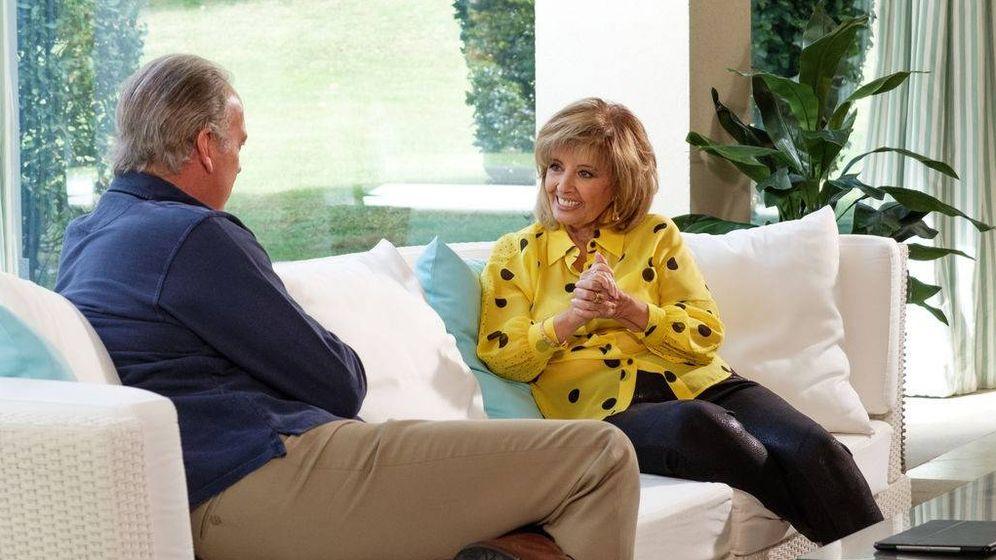 Foto: María Teresa Campos en una imagen de su entrevista con Bertín Osborne.