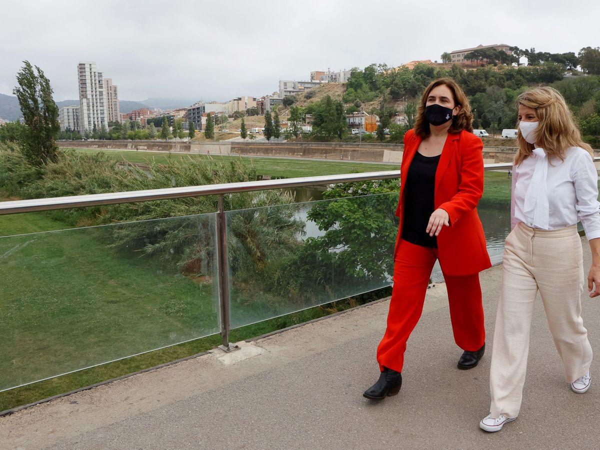 Foto: Ada Colau y Yolanda Díaz. (EFE)
