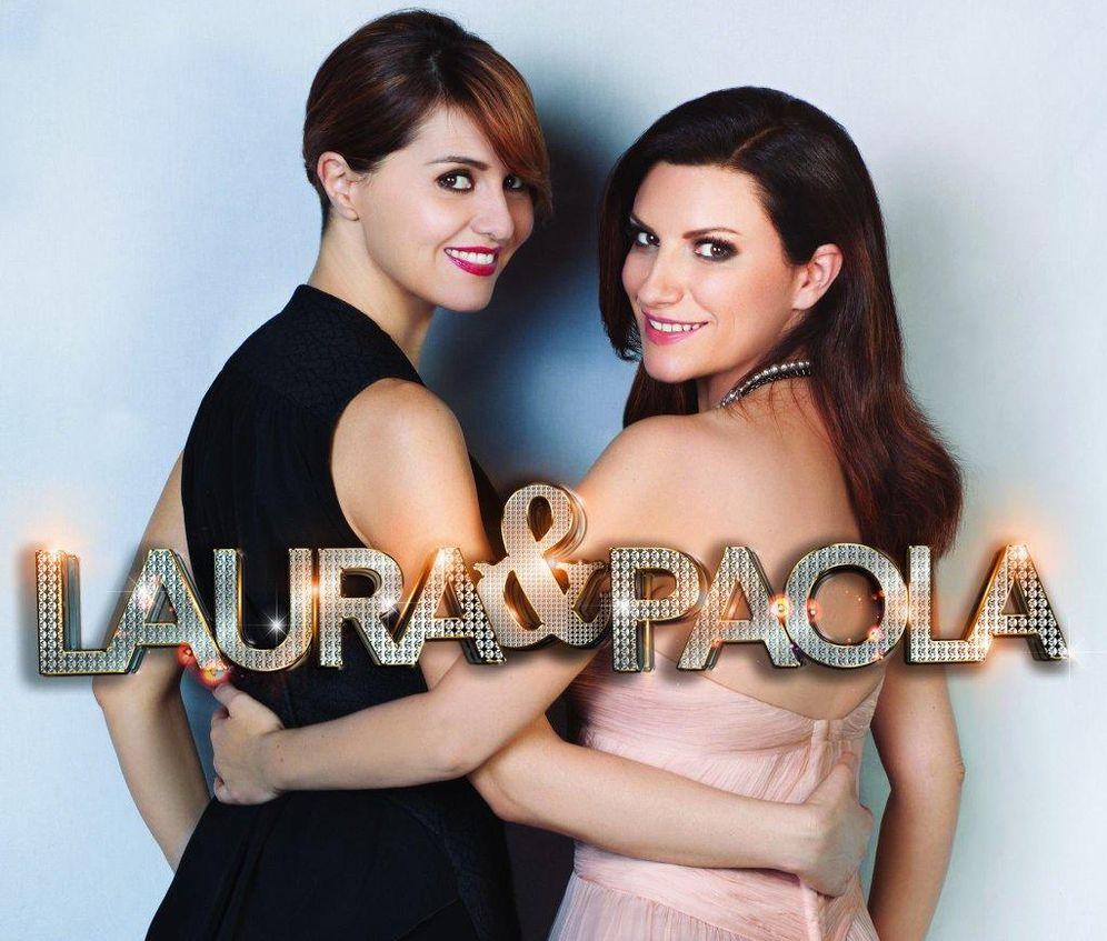Foto: Laura Pausini y Paola Cortellesi