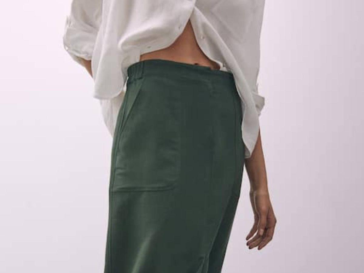 Foto: La falda midi de Massimo Dutti. (Cortesía)