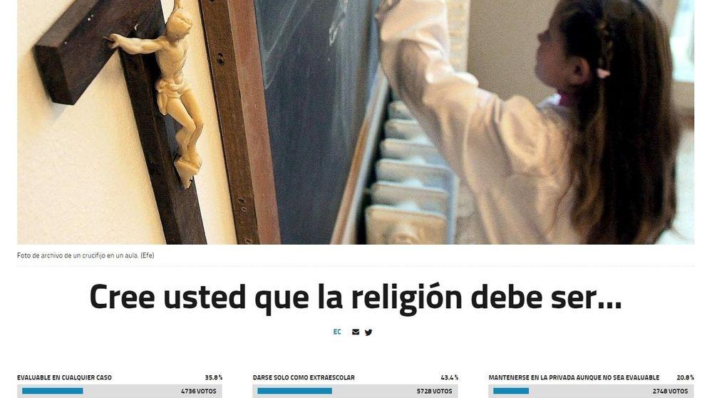 El 43% de los lectores de EC apuesta por que la religión sea extraescolar