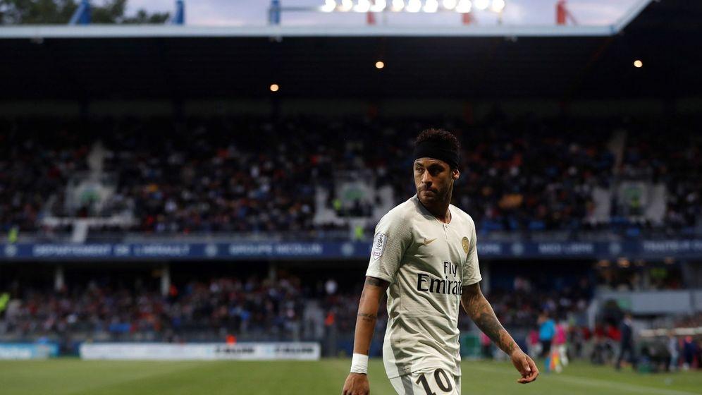 Foto: Neymar durante la derrota del PSG en Montpellier el pasado martes. (EFE)