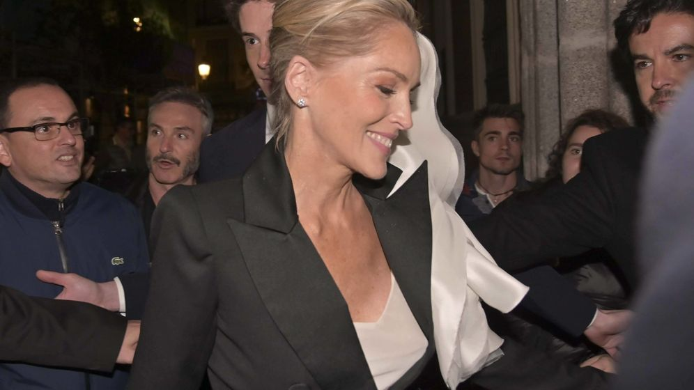 Foto: Sharon Stone, llegando a la fiesta. (Cordon Press)