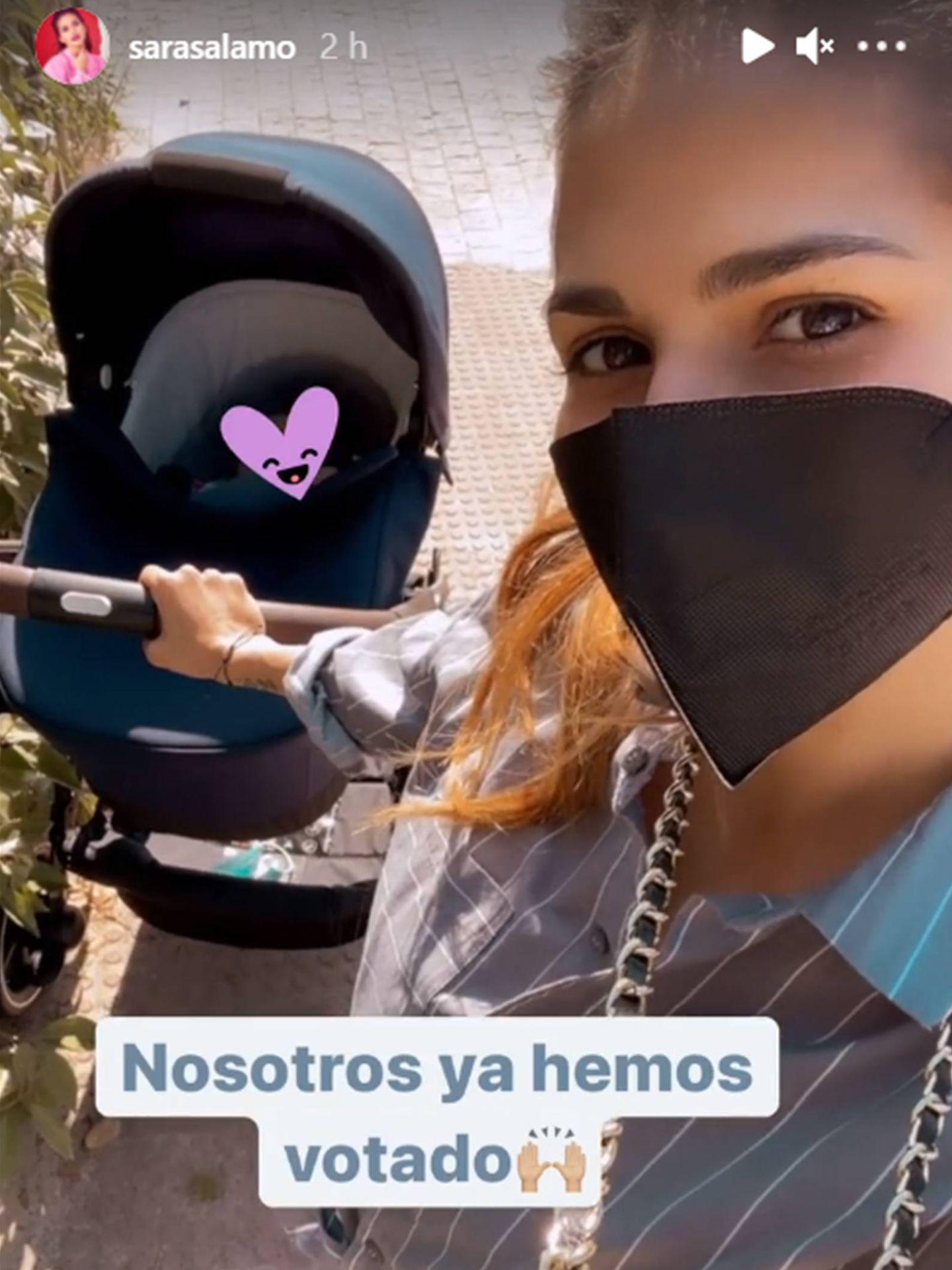 Sara Sálamo, en redes sociales. (Instagram @sarasalamo)