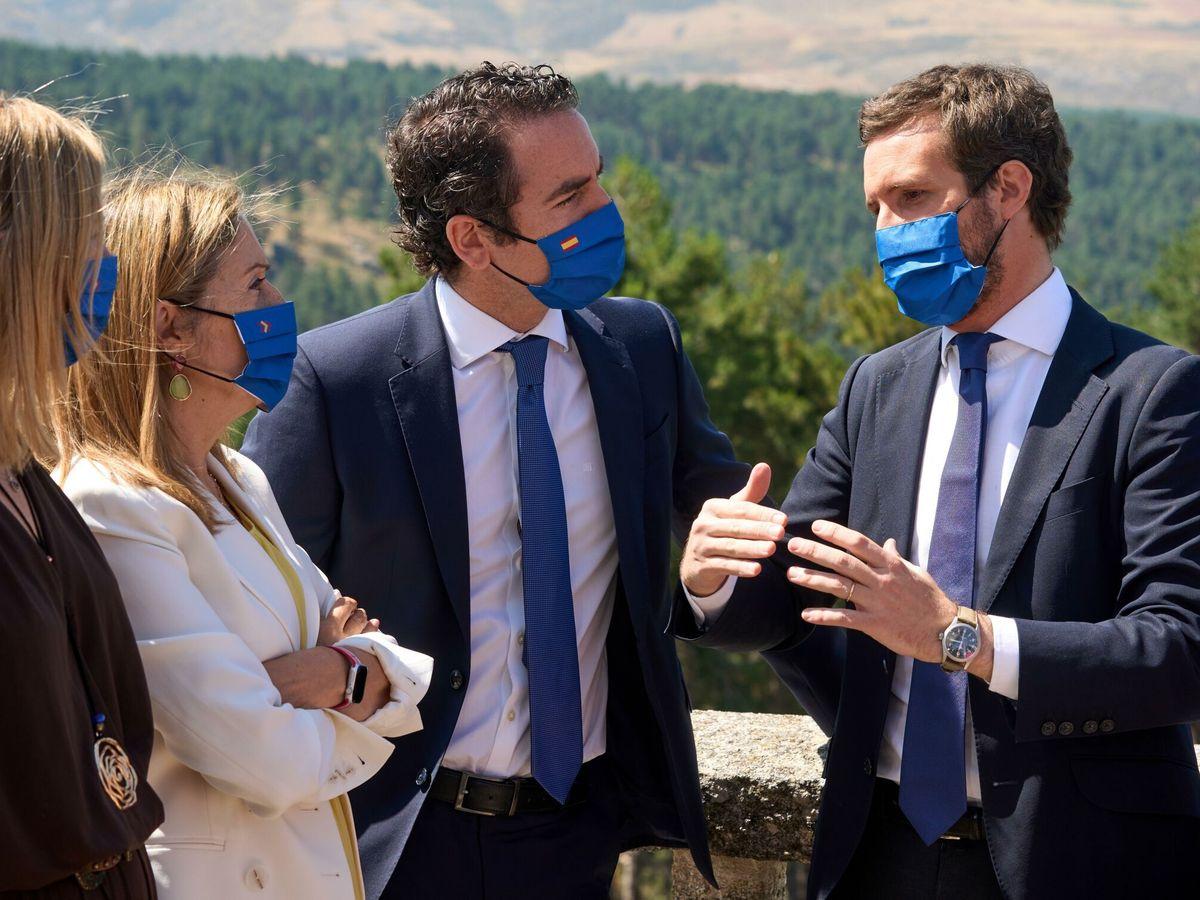 Foto: El líder del PP, Pablo Casado, y el secretario general del partido, García Egea. (EFE)