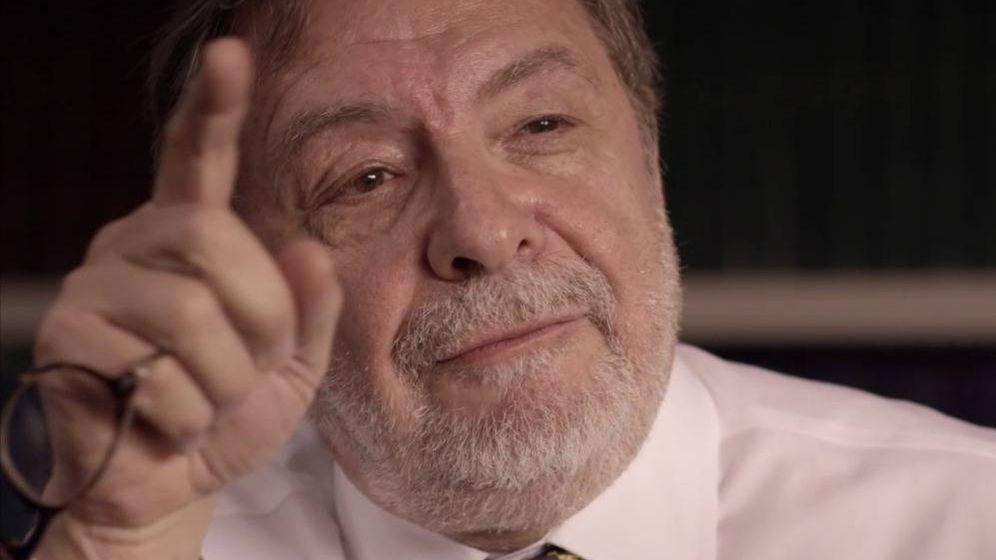 Foto: Juan Luis Cebrián, en su entrevista con Jordi Évole.