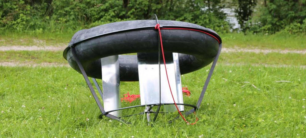 Foto: Rotor, un generador hidroeléctrico 'low cost' construido en un neumático