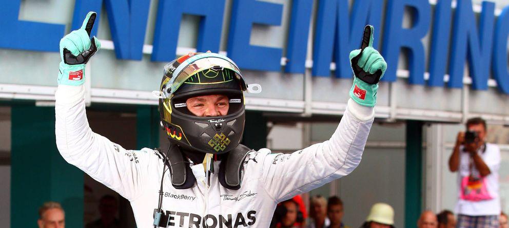 Foto: Nico Rosberg celebra la victoria en el Gran Premio de Alemania. (EFE)