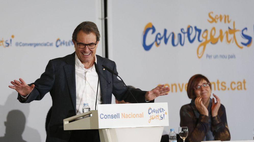 Foto: Artur Mas, en su último discurso como presidente de la Generalitat ante el Consell Nacional de CDC. (EFE)