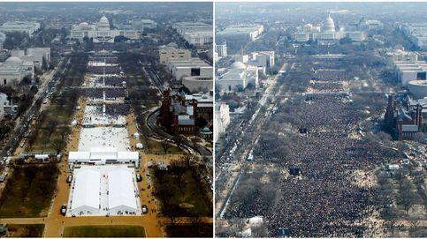 Lo primero que hizo Trump en la Casa Blanca fue editar las fotos de su investidura