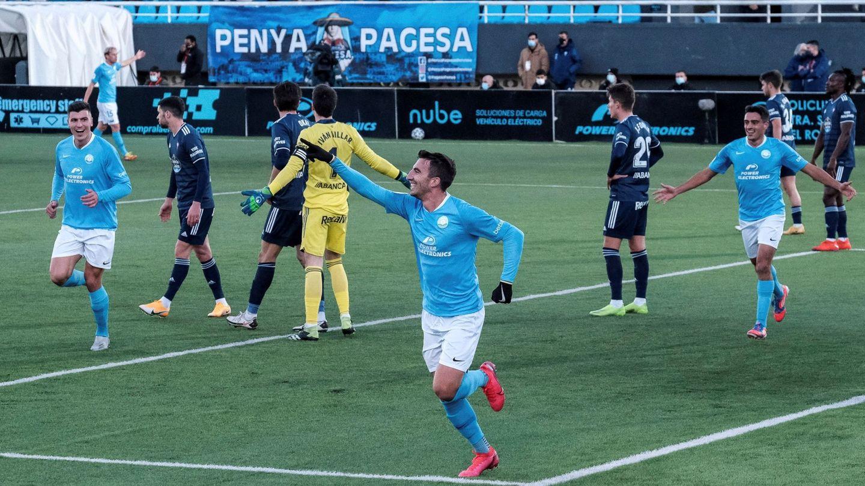 El Ibiza, de Segunda División B, eliminó al Celta de Vigo tras marcarle cinco goles. (EFE)