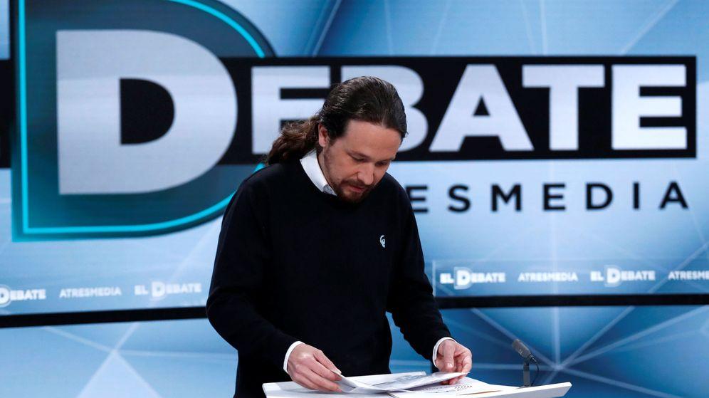 Foto: Pablo Iglesias preparando el debate. (Reuters)
