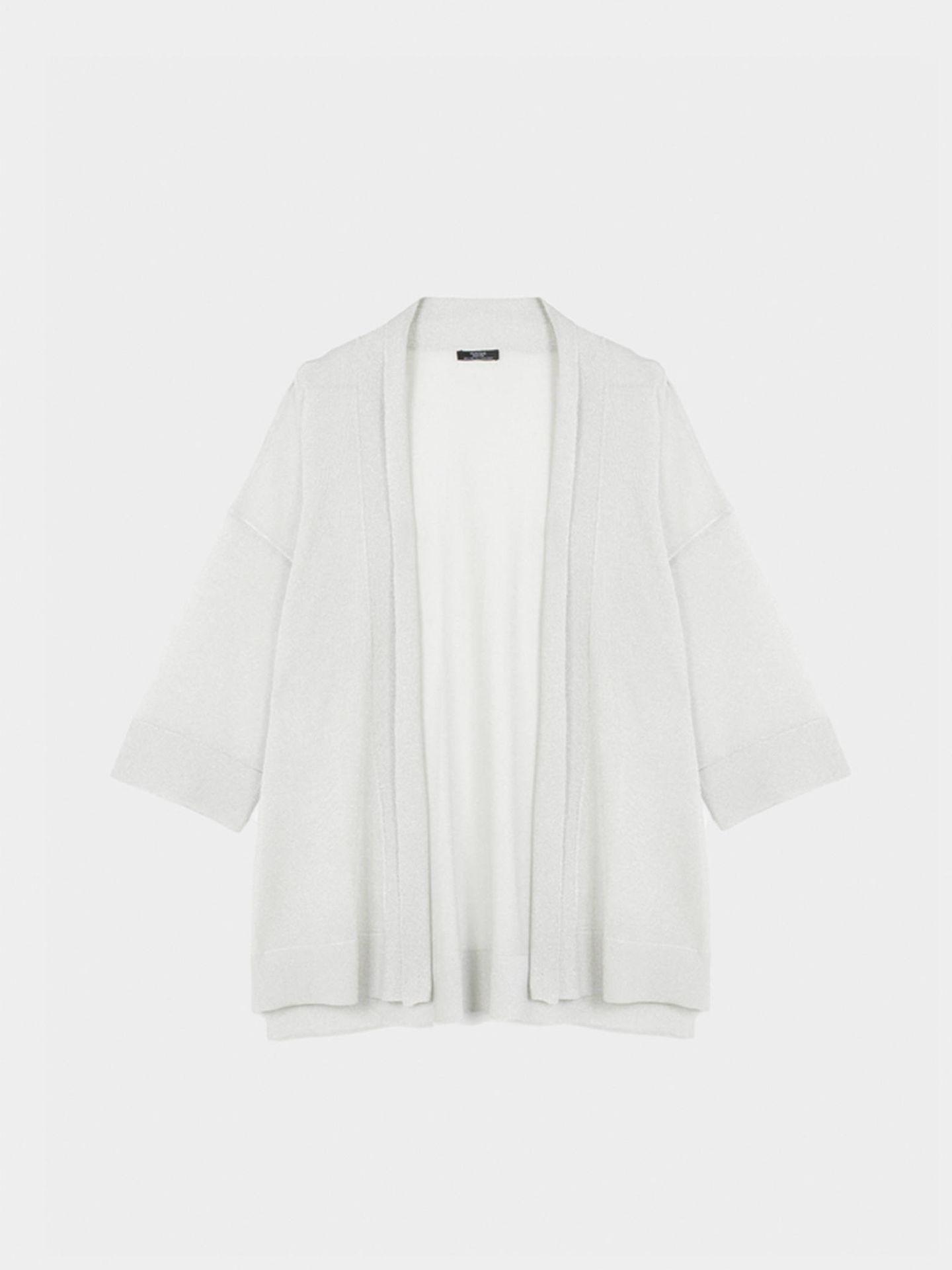 Kimono blanco de Parfois. (Cortesía)