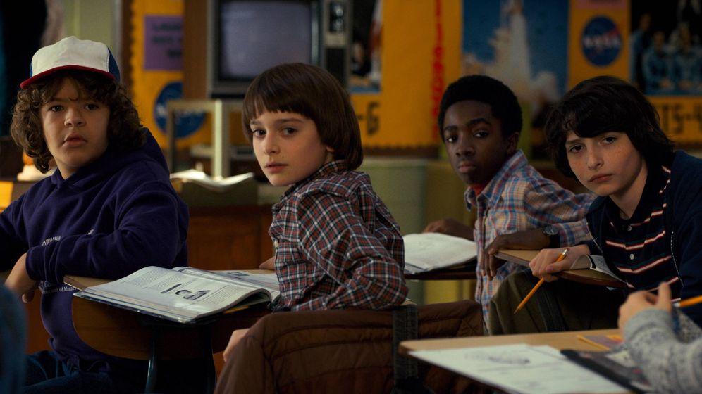 Foto: Los niños de 'Stranger Things' en su segunda temporada.