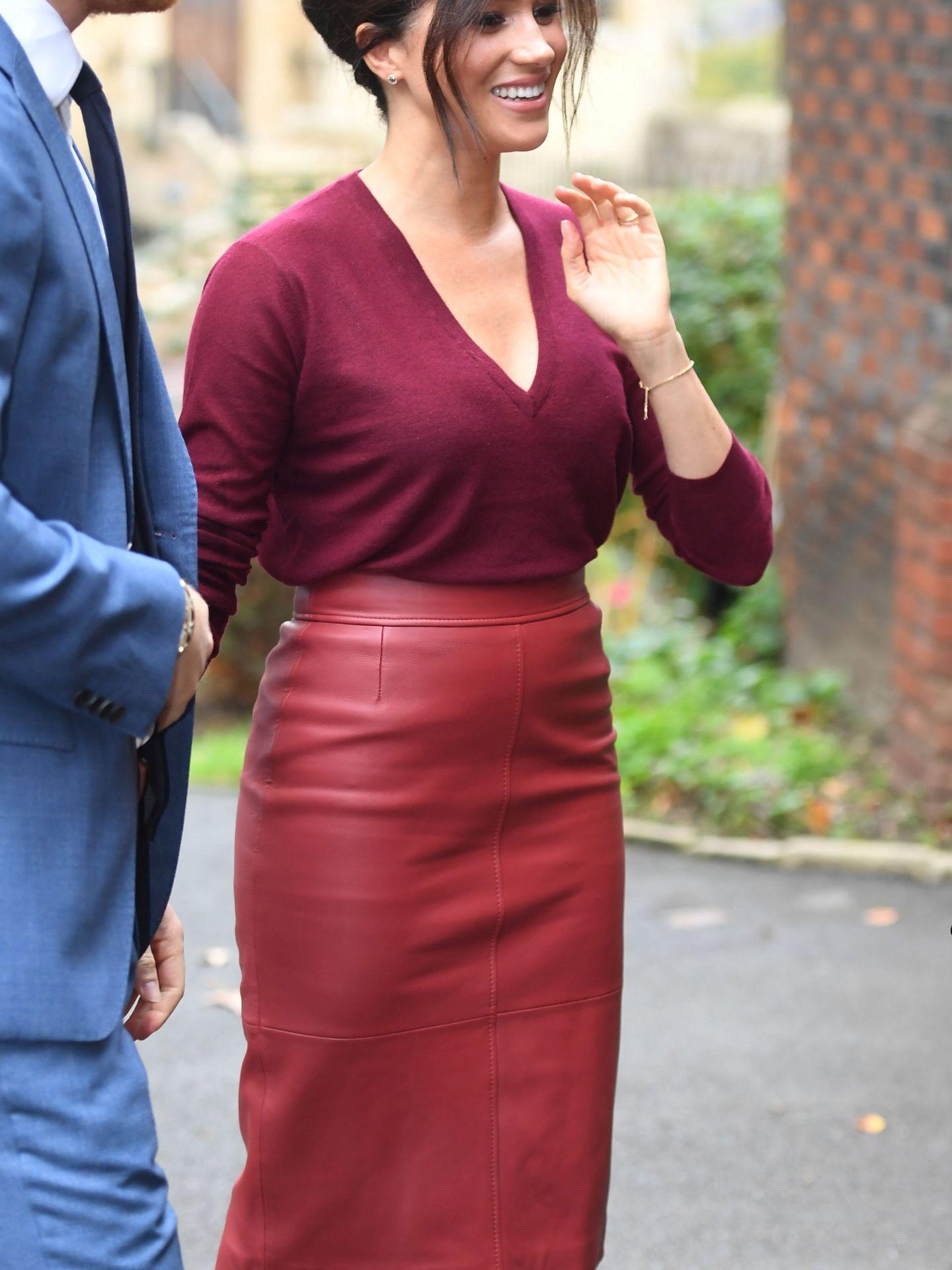La duquesa de Sussex, el pasado octubre. (Reuters)