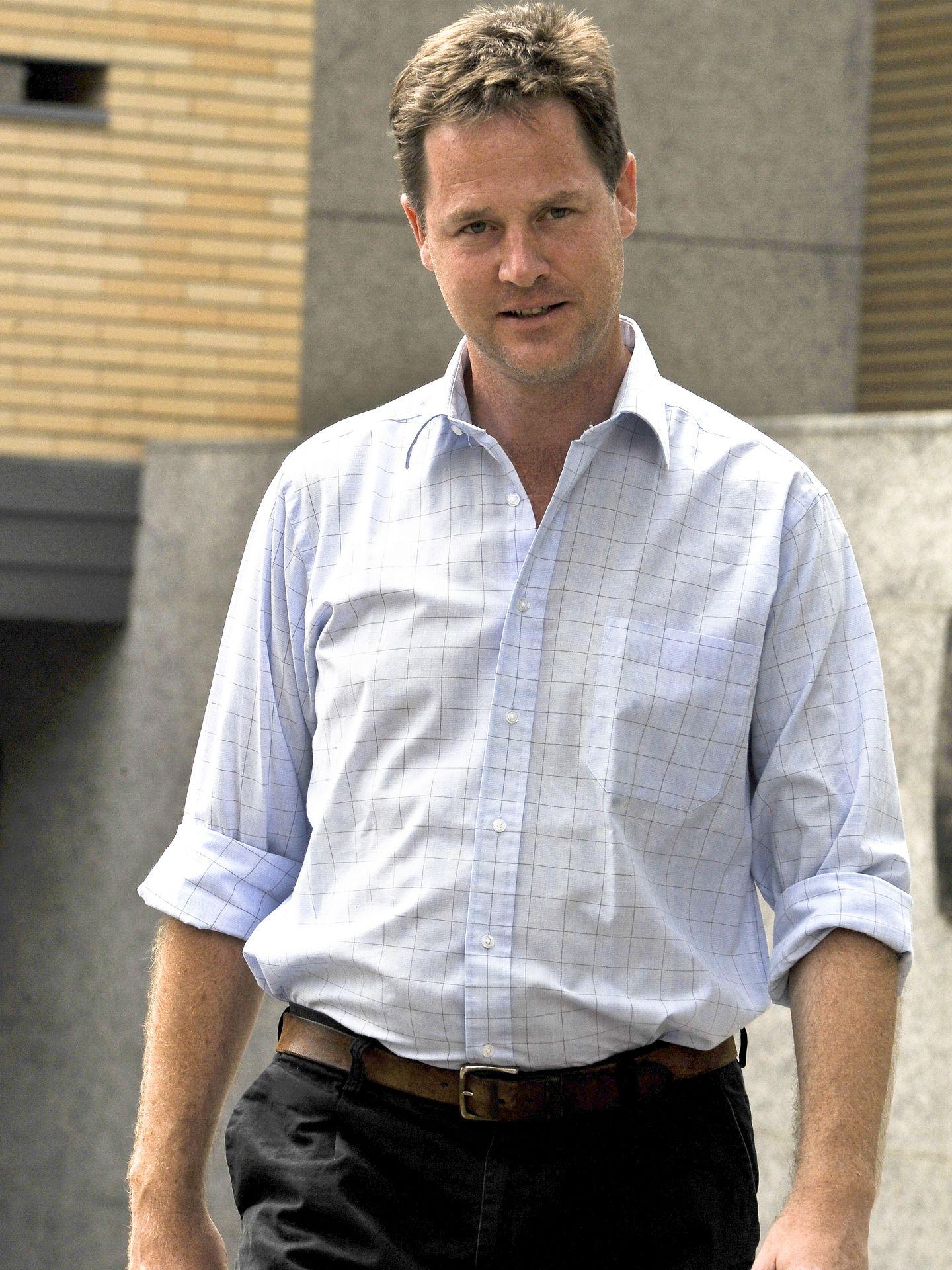 Nick Clegg paseando por Olmedo (Gtres)