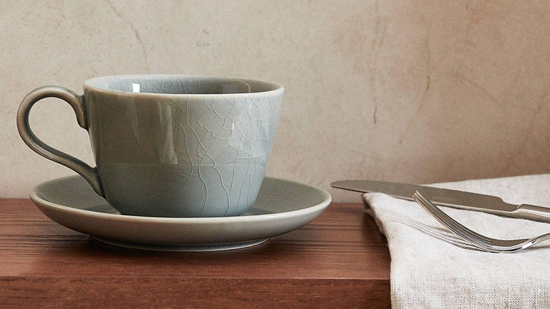 Tazas de desayuno de las novedades de Zara Home. (Cortesía)