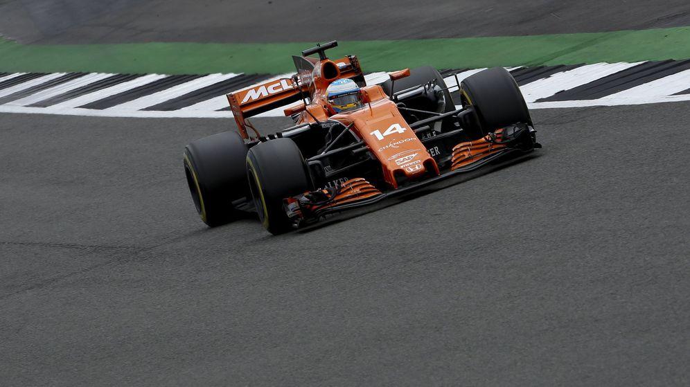 Foto: Fernando Alonso, en este GP de Gran Bretaña. (EFE)