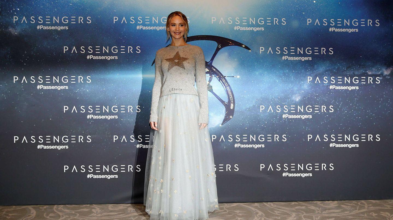 Jennifer Lawrence, vestida de Dior. (Reuters)