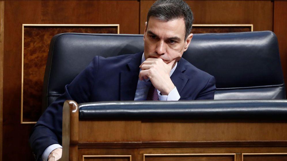 Foto: Pedro Sánchez, durante su comparecencia en el Congreso de los Diputados el pasado miércoles. (EFE)