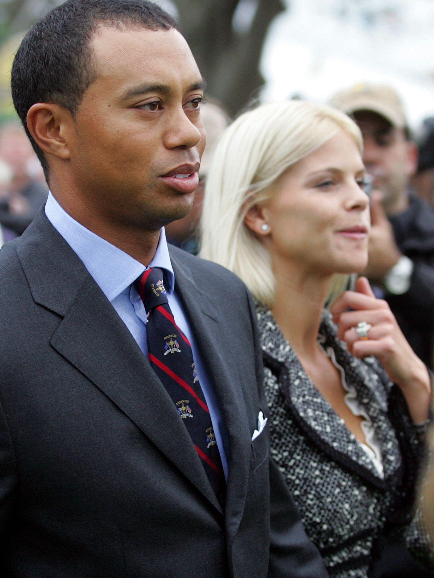 Tiger Woods y su exmujer Elin, en una foto de archivo (Gtres)