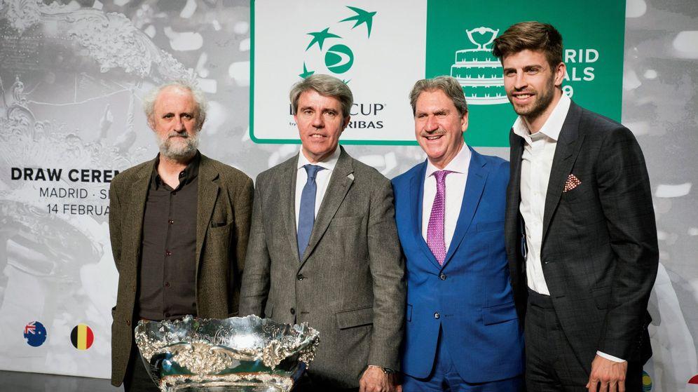 Foto: Gerard Piqué durante el sorteo de la Copa Davis celebrado en Madrid. (Efe)