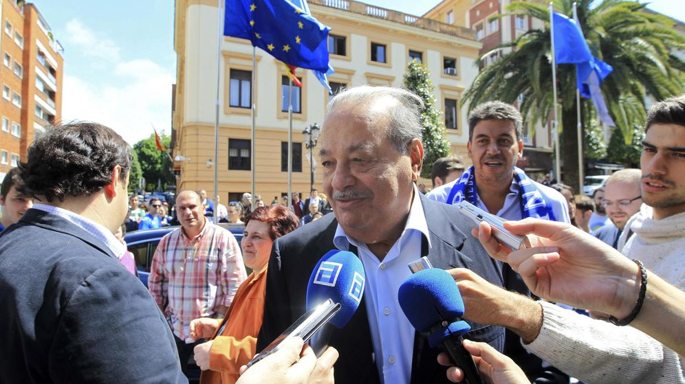 Foto: Carlos Slim, en Oviedo. (EFE)