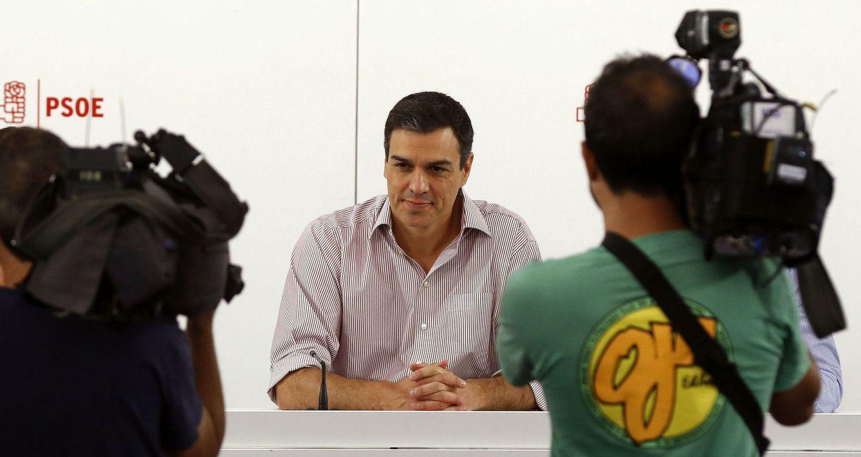 Pedro Sánchez, durante la reunión de su ejecutiva federal del pasado 27 de junio, tras la cual no compareció en rueda de prensa. (EFE)