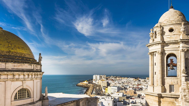Vista aérea de la bahía de Cádiz (Fuente: iStock)