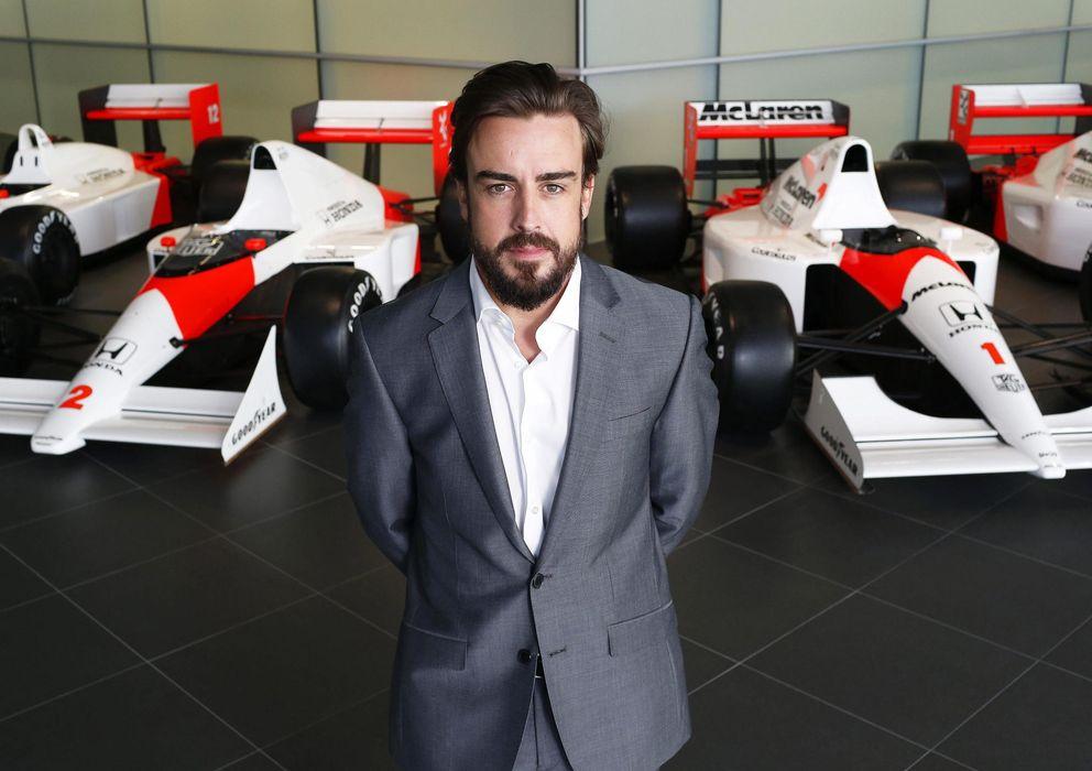 Foto: Fernando Alonso en la presentación con Honda.