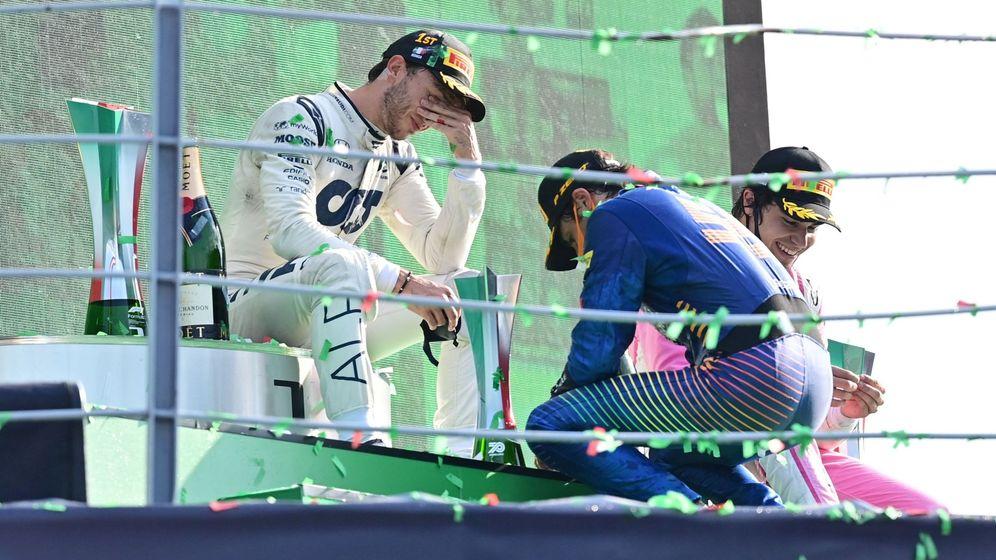 Foto: Pierre Gasly dejó sin victoria al español en Monza. (Reuters)