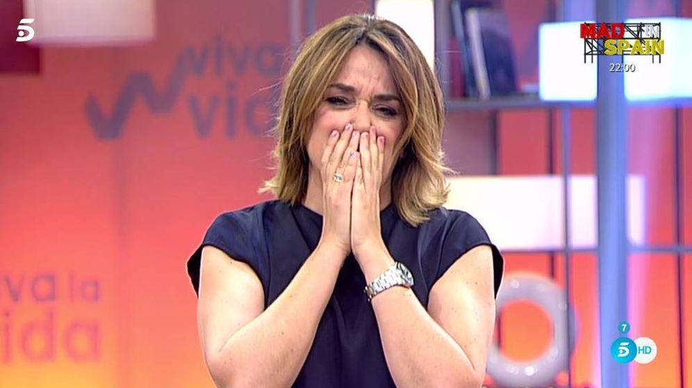 Foto: Toñi Moreno vivió una dramática llamada en 'Viva la vida'.